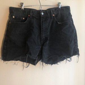 Vintage Levi's cutoffs 38W black